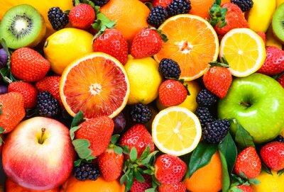 Plakat Fresh fruits mixed.Fruits background.