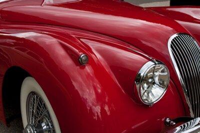Plakat Frontscheinwerfer eines alten sportwagen