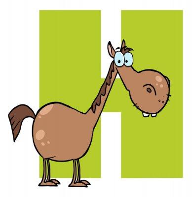 Plakat Funny Cartoons Alphabet- H