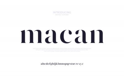 Plakat Future luxury alphabet font. Typography urban style fonts for fashion, retail, feminine, beauty care, jewelry logo design