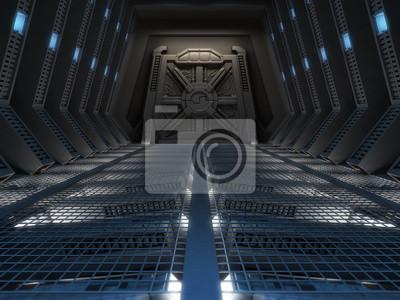 Plakat Futurystyczne wnętrze