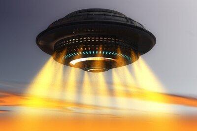 Plakat Futurystyczny statek UFO