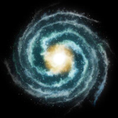 Plakat galaktyka spiralna galaktyka spiralna