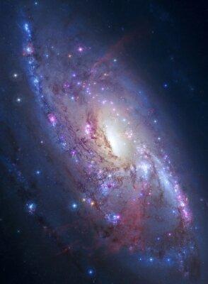 Plakat Galaktyka spiralna w przestrzeni kosmicznej. Elementy zdjęcia dostarczone przez NASA