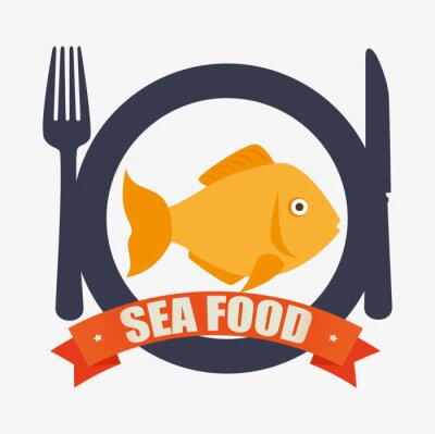 Plakat gastronomia Sea