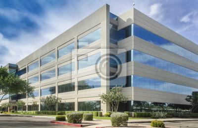 Plakat generic nowoczesny budynek - symbol sukcesu