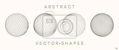 Plakat Geometric shape for design. 3d technology style.