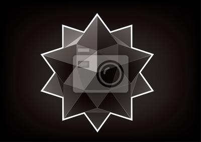 Geometryczna figura w postaci gwiazdy dla grafiki