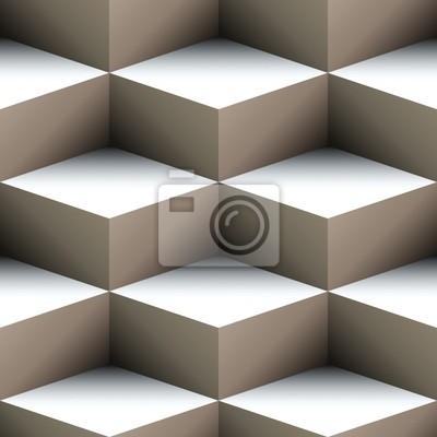 Plakat Geometryczna szwu wykonane z ułożonych kostek