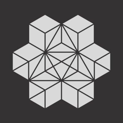Plakat Geometryczne kostki Symbol