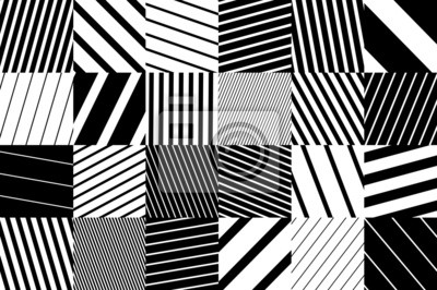 geometryczne tło czarne i białe kwadraty