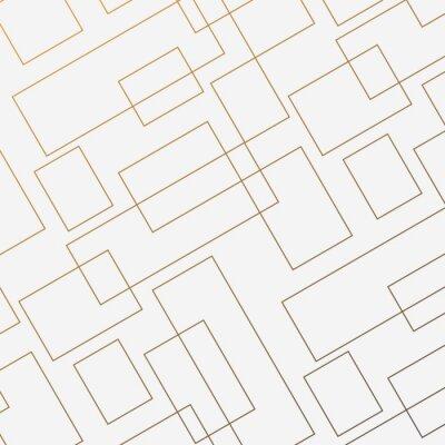 Plakat Geometryczny wektor wzór, powtarzając cienki liniowy kwadratowy kształt diamentu i prostokąt. Czysty design na malowane tapety ścienne. Wzór jest na panelu próbek
