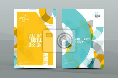 Plakat Geometryczny wzór mozaiki, biznes korporacyjny A4 korespondencji list motywacyjny