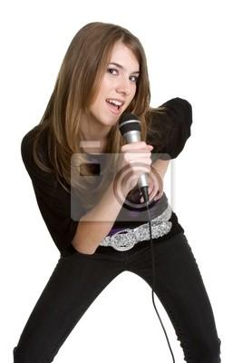 Plakat Girl Singing
