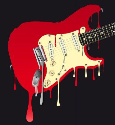 Plakat Gitara elektryczna topienia