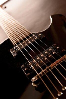 Plakat Gitara elektryczna, z bliska