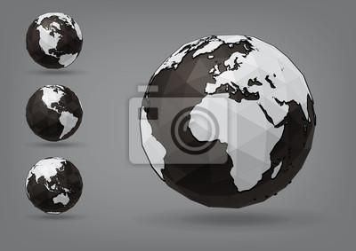 Glob jako bryły, można zmienić kolory