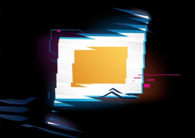 Glowing rectangle frame