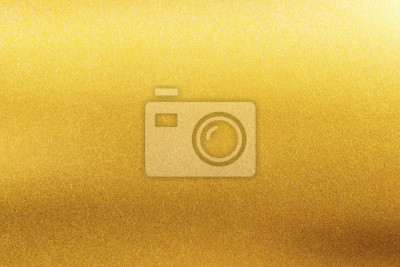 Plakat Gold texture background. Retro golden shiny wall surface.
