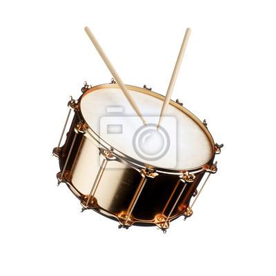 Plakat Golden drum isolated