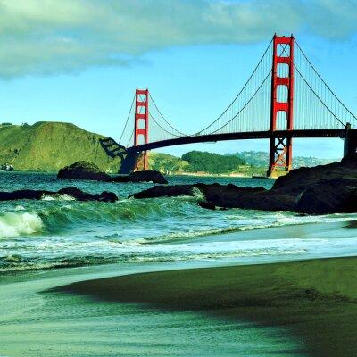 Plakat Golden Gate Bridge, San Francisco, Stany Zjednoczone