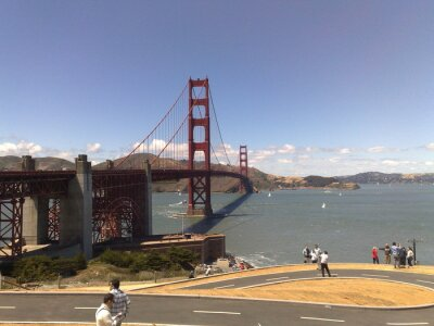 Plakat Golden Gate w San Francisco