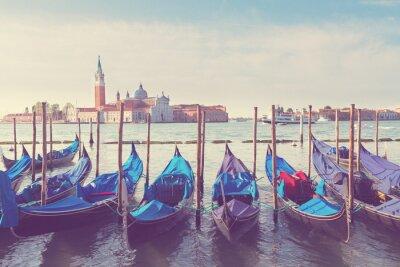 Plakat Gondole pływające w Canal Grande, Wenecja
