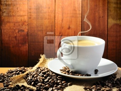 Plakat Gorąca kawa