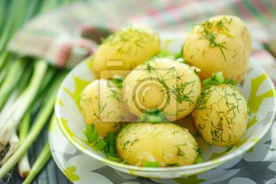 Plakat gotowane ziemniaki