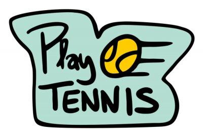 Plakat grać w tenisa symbol