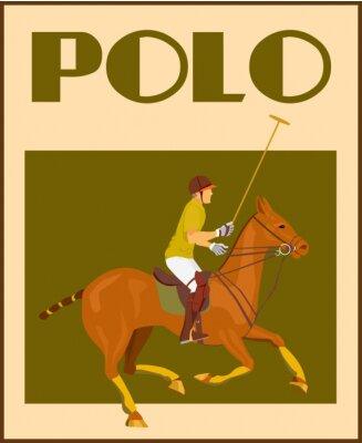 Plakat Gracz w polo na plakacie koni