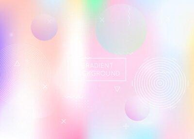 Plakat Gradient Pattern. Minimal Fluid. Magic Poster. Space Business Elements. Blue Retro Design. Geometric Texture. Trendy Flyer. Simple Dots. Purple Gradient Pattern