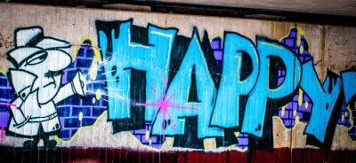 Plakat Graffiti: Happy