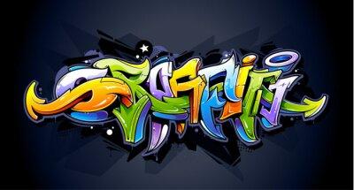 Plakat Graffiti napis jasny