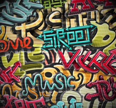 Plakat Graffiti w tle
