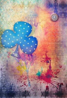 Plakat Graffiti złom, collage tle serii