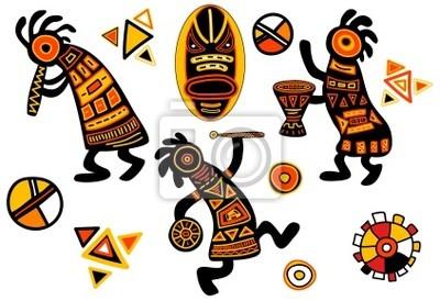 Grafika afryki tradycyjne wzory