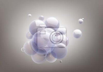 Grafika bańki mydlane, można zmienić kolory