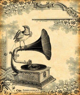 Plakat gramofon 1900