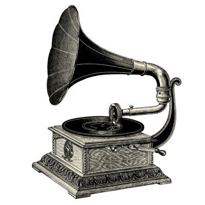 Plakat Gramofon Na Wymiar W Wieku Antyczny Stary