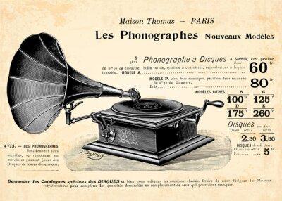 Plakat Gramofon Le
