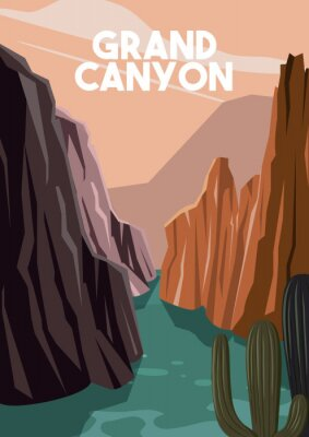 Plakat Grand Canyon Arizona Vector Illustration Background