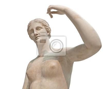 Plakat Grecki posąg nagiej Wenus wyizolowanych na białym
