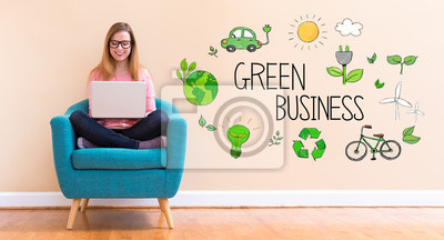 green-business-with-young-woman-using-he