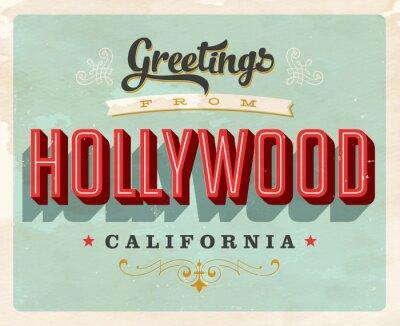 Plakat Greeting Card turystyczny w stylu vintage - wektora EPS10