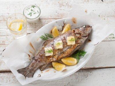 Plakat Grillowana ryba