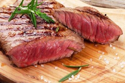 Plakat Grillowany stek wołowy