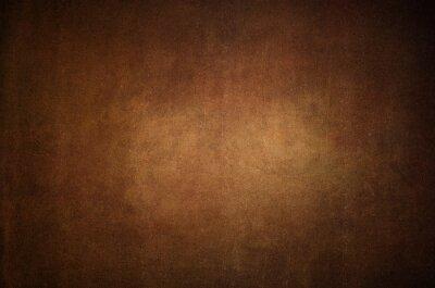 Plakat Grunge brown distressed background, old paper textured layout of light center and dark vignette edges
