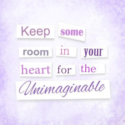 Plakat Grunge cytatu w stylu anonimowego listu o wyobraźni