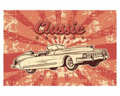 Plakat grunge klasyczny garaż antyczne vintage retro old school image